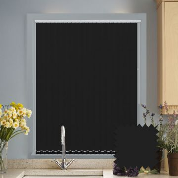 Black Vertical Blinds - made to measure